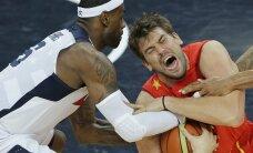 Hispaania andis olümpia kossufinaalis lahingu, kuid USA võttis ikkagi oma