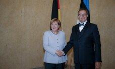 DELFI FOTOD: Angela Merkel kohtus Kadriorus president Ilvesega