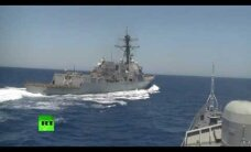 ВИДЕО: Россия обвинила эсминец США в опасных маневрах в Средиземноморье
