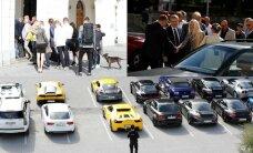 ФОТО: Владельцы суперкаров прибыли в Таллинн и встретились с Рыйвасом