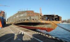 """FOTOD: parvlaev """"Piret"""" lasti reedel Poola laevatehases vette"""
