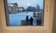 Külmakraadid ja lumi Eestisse saabunud sõjapõgenikke ei heiduta