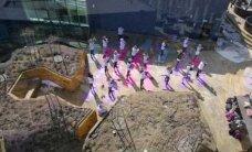 DROONIVIDEO: Tudengid avasid katusejoogaga välitreeningute hooaja