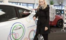 Lenna Kuurmaa hakkab roolima lumivalget Renault Megane Coupe'd