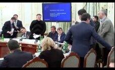 В сеть попало видео с Аваковым, кидающим стакан в Саакашвили