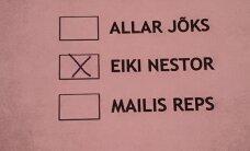 Osa reformierakondlasi pildistas esmaspäeval valimiskabiinis telefoniga oma hääletussedelit