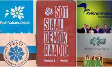 Рейтинги политических партий Эстонии за лето почти не изменились