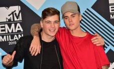 KLÕPS: Noor Hollandi staar-DJ Martin Garrix oli eilsel MTV Euroopa auhinnagalal võidukas ja kaisutas oma semu Justin Bieberiga