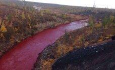 Venemaal Norilski ümbruses värvusid jõed punaseks
