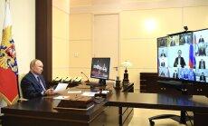 Владимир Путин проводит совещание по видеосвязи