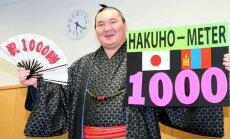 Hakuho jõudis profisumo kõrgeimal tasandil 1000. võiduni