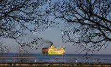 PILTUUDIS: Tallinki Soome poole startinud kiirlaev ajab välja paksu musta tossu