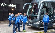 Eesti jalgpallikoondis jõudis Londonisse