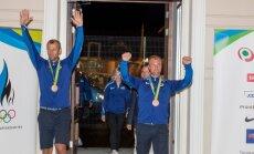 Eesti sõudjate saabumine Tallinna