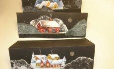 Kitsad kahepoolsed jõulukaardid on kõige stiilsema kujuga.