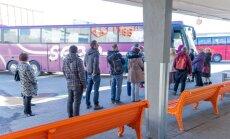 Meeletud massid tallinna bussijaamas