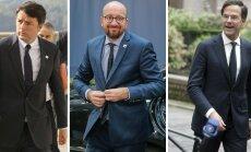 Matteo Renzi, Charles Michel, Mark Rutte