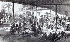 Orjakaubanduse ohvrid Brasiilias. Johann Moritz Rugendase joonistus 1830. aastast