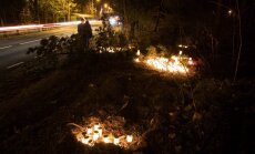 Küünlad Pärnamäe tee avariipaigas