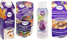 Laktoosivabad jogurtid on müügil õunte, maasikate ja murakatega