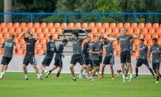 Nõmme Kalju ja Haifa Maccabi treening Kadrioru staadionil