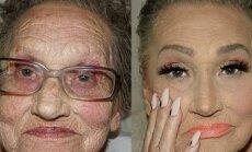 GALERII: 80aastane vanaema palub, et tütretütar talle meigi teeks ja tulemus on uskumatu