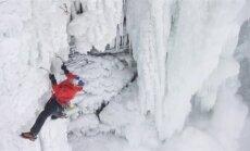 """VIDEO: Jääronija """"vallutas"""" esimese inimesena külmunud Niagara joa"""