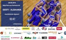 TÄISPIKKUSES: Eesti korvpallikoondis alistas Albaania 53 punktiga