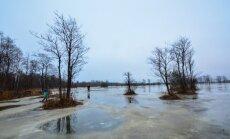 Soomaa suurvesi muutus jõulude eel jääväljaks.
