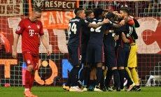 Pettunud Franck Ribery ja juubeldav Atletico meeskond