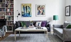 Põneva värvivaliku ja kunstiga täidetud kodu