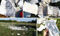 DELFI FOTOD: Stroomi rannas vedeles hunnik arhitektide dokumente