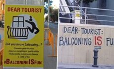 В Барселоне появились постеры, призывающие туристов к суициду