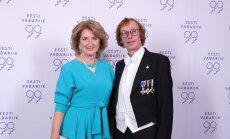 KÕVA TUGI: Jelena Tomasova oma mehe, Riigikogu liikme Viktor Vassiljeviga presidendi vastuvõtul.