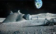 """Euroopa kosmoseagentuur on pakkunud """"Kuu küla"""" projekti. Selle järgi võiks Kuule baasi luua 2030. aastaks ja hoonedetailid valmistada kohapeal hiiglaslike 3D-printeritega."""