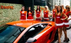 FOTOD ja VIDEO: Vinged iludused! Hiltoni hotelli ees esitleti luksuslikke supermasinaid