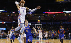 VIDEO: Hooaja 27. kolmikduubli teinud Westbrook tõusis rekordi arvestuses kolmandaks