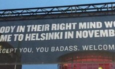 Плакат в аэропорту Хельсинки: хитрый трюк или антиреклама?