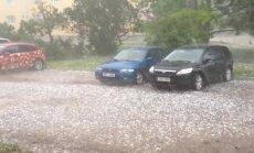 VIDEO: Tartumaal lõi rahe autodesse mõlke ja akendesse mõrasid