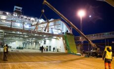 Purunenud rambiga Tallink Star Tallinna sadamas