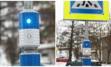 Eeskujuks teistele: Viimsi valda paigaldati ülekäigurajale Eestis ainulaadsed vilkuvad valguskapslid