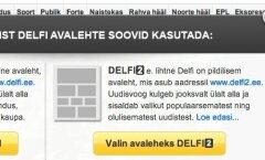 Delfi või Delfi2 - vali endale meelepärasem avaleht!
