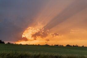 Päikeseloojang Tartumaal 22.06.2021