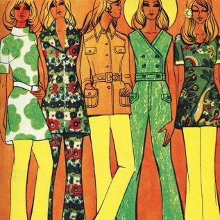 1970, kirju liblika suvi.