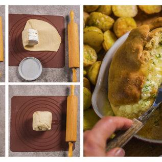 MIDAGI HEAD JA ERILIST | Küpsetatud juust pitsatainast saia sees