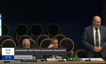 VIDEO | Peaministrit asendav Mart Helme riigikogu infotunnis: ma ei ole küll jurist, kuid olen vaadanud kohtufilme
