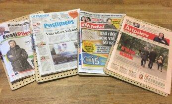 Eesti päevalehed taunivad tekkinud olukorda: hädapresidendil ei saa olla moraalset legitiimsust, süüdistavalt tuleks vaadata päevapoliitikute suunas