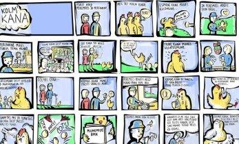 Koomiks: Kolm kana