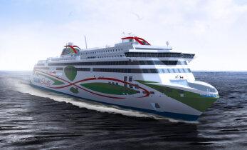 President Halonen ristis täna Tallinki uue kiirlaeva Megastari