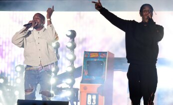 VIDEO: Räme feil! Kanye West hüppas Coachellal ASAP Rocky kontserdi ajal lavale ja mehe mikrofon lülitati välja